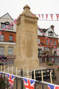War Memorial and Flags image