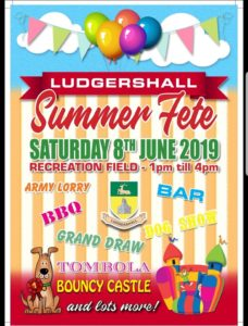 Ludgershall Summer Fete Poster 2019
