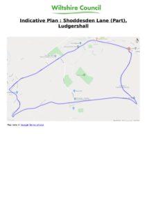 Shoddesden Lane map